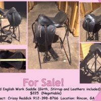 "15"" Used Black English Work Saddle"